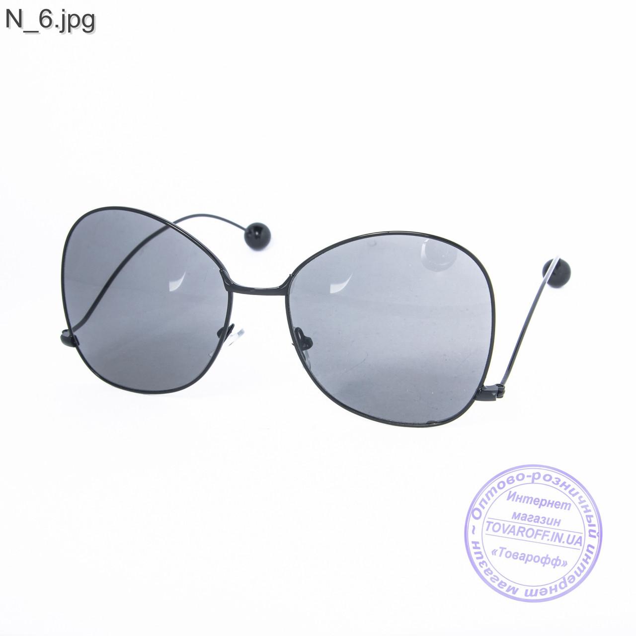 Оптом женские солнцезащитные очки черные - 353