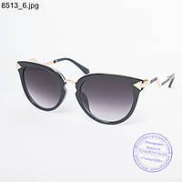 Оптом женские солнцезащитные очки черные - 8513