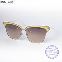 Оптом солнцезащитные очки унисекс белые - 2120