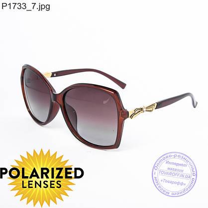 Оптом поляризационные женские солнцезащитные очки коричневые - P1733, фото 2