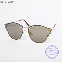Оптом женские солнцезащитные очки коричневые - 6012
