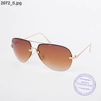 Оптом солнцезащитные очки унисекс коричневые - 2072