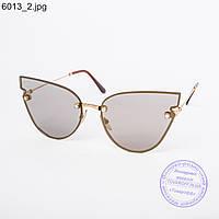 Оптом женские солнцезащитные очки коричневые - 6013