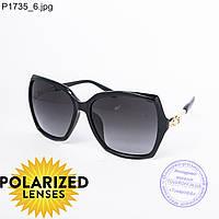 Оптом поляризационные женские солнцезащитные очки Оптом черные - P1735
