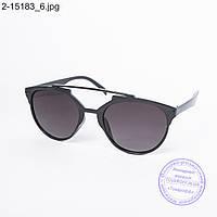 Оптом солнцезащитные очки унисекс черные - 2-15183