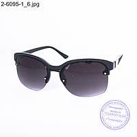 Оптом солнцезащитные очки унисекс черные - 2-6095