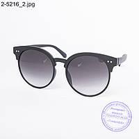 Оптом солнцезащитные очки унисекс черные - 2-5216
