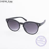 Оптом солнцезащитные очки унисекс черные - 2-5218