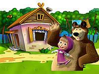 Вафельная картинка для тортов Маша и Медведь 91