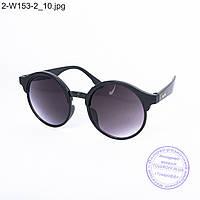 Оптом солнцезащитные очки унисекс - черные - 2-W153-2