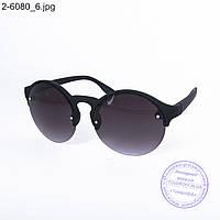 Оптом солнцезащитные очки унисекс - черные - 2-6080