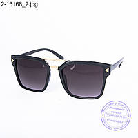 Оптом солнцезащитные очки унисекс - черные - 2-16168