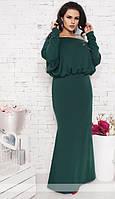 Платье в пол с открытой спиной из ангоры. Большие размеры. Разные цвета.