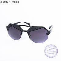 Оптом солнцезащитные очки унисекс - черные - 2-6087-1