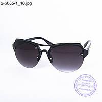 Оптом солнцезащитные очки унисекс - черные - 2-6085-1