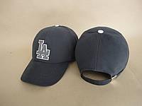 Бейсболка джинсовая серая LA