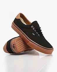 Кеды мужские Vans Era черный/коричневый топ реплика