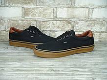 Кеды мужские Vans Era черный/коричневый топ реплика, фото 2