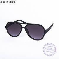 Оптом солнцезащитные очки унисекс - черные - 2-8614