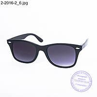 Оптом солнцезащитные очки унисекс - черные - 2-2016-2