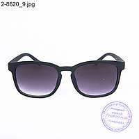 Оптом солнцезащитные очки унисекс - черные - 2-8620