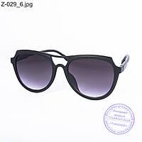 Оптом солнцезащитные очки унисекс - черные - Z-029