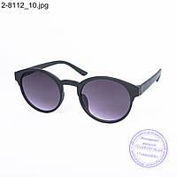 Оптом солнцезащитные очки унисекс - черные - 2-8112