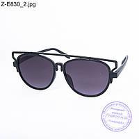 Оптом солнцезащитные очки унисекс - черные - Z-E830