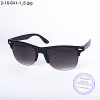 Оптом солнцезащитные очки унисекс - черные - 2-16-641-1