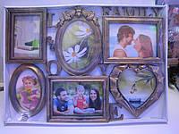 "Стильная фоторамка коллаж на 6 фото ""Love Family"""