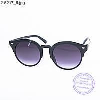Оптом солнцезащитные очки унисекс - черные - 2-5217