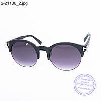 Оптом солнцезащитные очки унисекс - черные - 2-21106