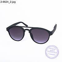 Оптом солнцезащитные очки унисекс - черные - 2-8624