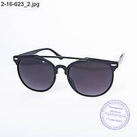 Оптом солнцезащитные очки унисекс - черные - 2-16-623