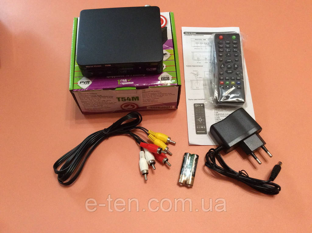 Цифровой ТВ ресивер Т2 World Vision Т54М с форматами HD/DVB-T/T2 (без информационного дисплея)