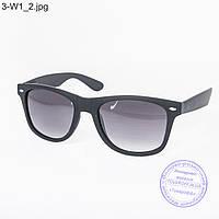 Оптом очки солнцезащитные Вайфарер (Wayfarer) черные матовые - 3-W1
