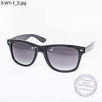 Оптом очки солнцезащитные Вайфарер (Wayfarer) черные - 3-W1-1