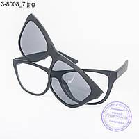 Оптом имиджевые очки с накладными солнцезащитными стеклами - 8008