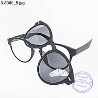 Оптом имиджевые очки с накладными солнцезащитными стеклами - 8005