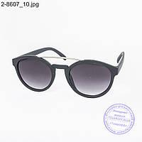 Оптом солнцезащитные очки унисекс - черные - 2-8607