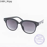 Оптом солнцезащитные очки унисекс - черные - 2-851