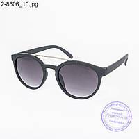 Оптом солнцезащитные очки унисекс - черные - 2-8606