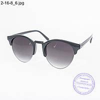 Оптом солнцезащитные очки унисекс - черные - 2-16-8