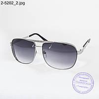 Оптом мужские солнцезащитные очки черные - 2-5202