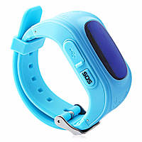 Детские смарт-часы телефон Q50 с GPS трекером бирюза