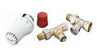 Комплект радиаторных терморегуляторов Danfoss RA-FN, RAS-C, RLV-S, прямой