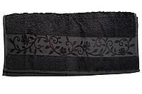 "Полотенце ""Hanibaba"" бамбук 50x90 темно-серое"