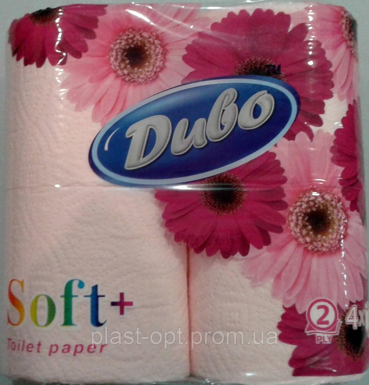 """Туалетная бумага Диво Soft """"Розовый"""" 4 рулона"""