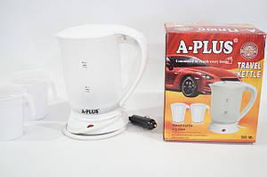 Дисковый автомобильный электрочайник 0.5L  A-Plus EK-1518 в прикуриватель