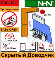 Доводчик с петлями для маятниковых стеклянных дверей NHN-PDC100 (Япония)